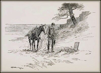 Old Jack : Charles M. Russell drawing : Circa 1901