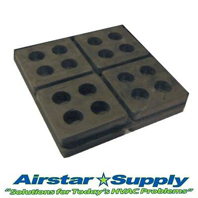 """(1) 4"""" x 4"""" x 3/4"""" Anti Vibration Pads • Heavy Duty All Rubber Isolation Pad"""