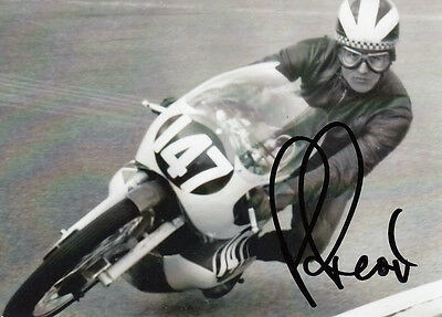 Phil Read Hand Signed Yamaha 7x5 Photo.