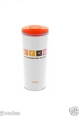 Dunkin Donuts Aladdin 16oz Coffee Tumbler /  Mug, This Teacher Runs on Dunkin'