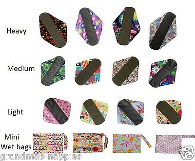 Bamboo Mama Cloth Menstrual Pads Reusable Waterproof Sanitary Panty Liners