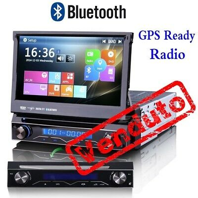 1 Din AU Post Single Car Stereo GPS DVD CD Radio SatNav DTV DVR 3G SWC SD 1088AD
