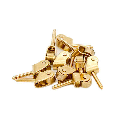 10PCS Hardware Furniture Miniature Pulley Gold Wheel 1:12 Dollhouse Accessory