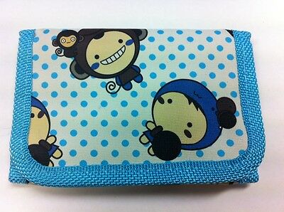 WHOLESALE JOB LOT 12 x KIDS BLUE MONKEY RIPPER WALLET PURSE PARTY BAG FILLER