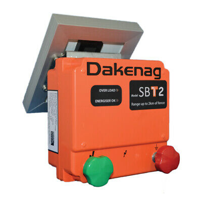 Daken 2km SBT2 Solar Powered Electric Fence Energiser Internal Battery AU Stock