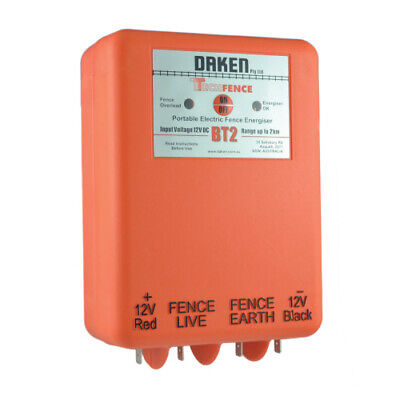 2km 12V VOLT BATTERY POWERED Electric Fence Energiser Energizer BT2 DAKEN