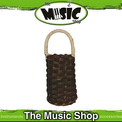 "New Mano Percussion Caxixi Shaker - 6 3/4"" High Woven Rattan Basket - EM331"