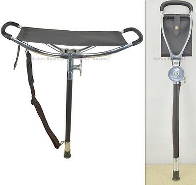 Deluxe Shooting Walking SEAT STICK for Fishing Hunt Camping Golf Resting stool