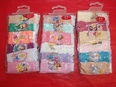 PRINCESS GIRLS UNDIES UNDERPANTS KNICKERS UNDERWEAR 6/PACK 100% COTTON Size 1-7