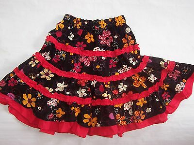 Brand New Girls Floral Corduroy Cotton Skirt Size 2-8