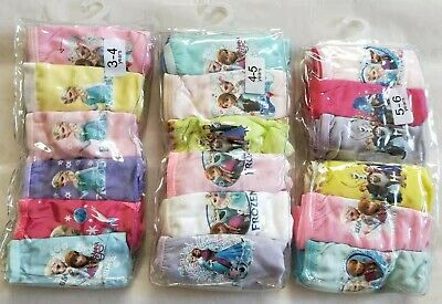 FROZEN GIRLS UNDIES UNDERPANTS KNICKERS UNDERWEAR 6/PACK 100% COTTON Size 2-10