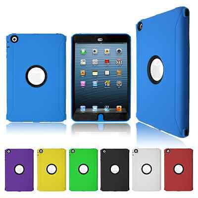 Tough Builder Heavy Duty Shock Proof Defender Military Case Cover For Apple iPad