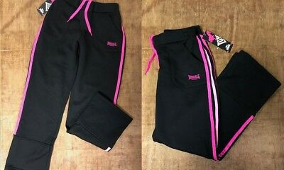 Lonsdale Kids Girls Teenagers Fleece Lined Fitness Pants Junior Jogging Bottoms