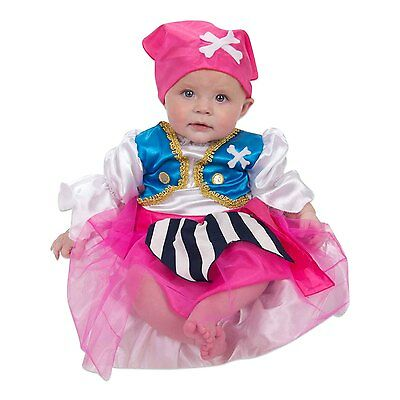 Baby Toddler Girl Pirate Fancy Dress Costume (6, 12, 24 Months) Lucy Locket