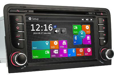 "HD 7"" Autoradio DVD Player GPS Navigation Navi USB BT 3G für AUDI A3 2003-2011"