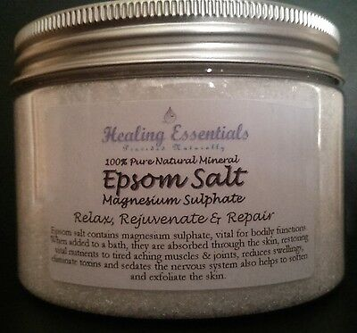 Epsom Bath Salts - Magnesium Sulphate 100% Pure Natural Minerals/Spa/Detox 400g