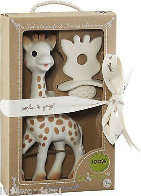 Sophie La Girafe Teether Toy & Natural Soother - Giraffe  (Giftwrap Available)