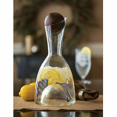 Godinger Shannon Crystal 64Oz Mouth-Blown Carafe With Acacia Wood Stopper