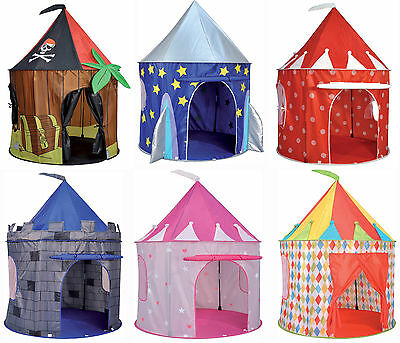 Spirit Of Air Kids Pop Up Tent Play House Pirate Rocket Circus Castle 130x100cm