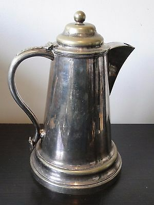 Silver Plated Jug, Antique, Probably From A Church, 1870, English, Top Quality