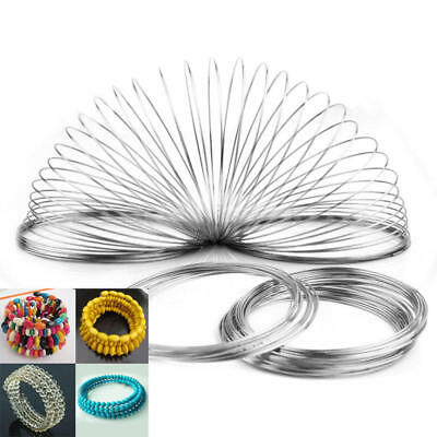 60/100 Loops 6cm Stainless Steel Memory Wire for Bangle Bracelet Jewelry DIY