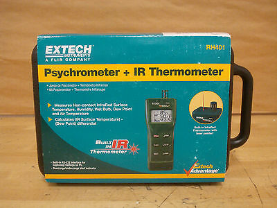 Extech RH401 Psychormeter Relative Humidity Meter + IR Thermometer   (P2)