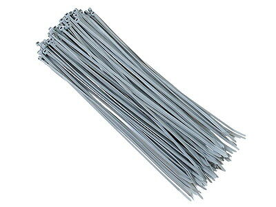 100 x Grey Natural Nylon Plastic Cable Ties Zip Wraps 300 x 3,6mm