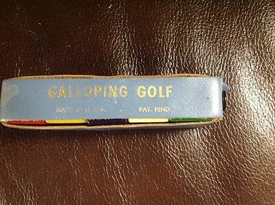Vintage Galloping Golf Dice Game (with stars)