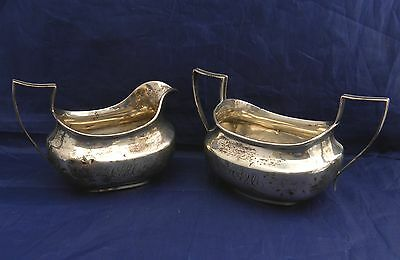 UNGER BROS. sterling CREAM & SUGAR BOWL