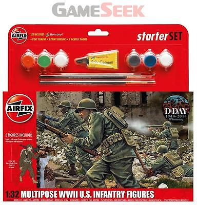 1:32 Scale WWII US Infantry Multipose Starter Gift Set