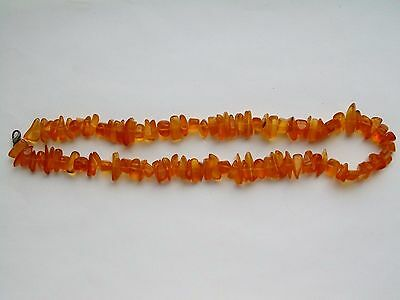 Antique 45g. Natural Butterscotch  BALTIC AMBER Beads Necklace 老琥珀