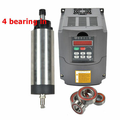 Four Bear 1.5Kw Er11 Air Cooled Spindle Motor &1.5Kw Inverter Drive Vfd B4  Cnc