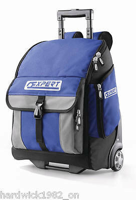 Britool Expert Back Pack Toolbag Toolbox On Wheels + Push Along Handle
