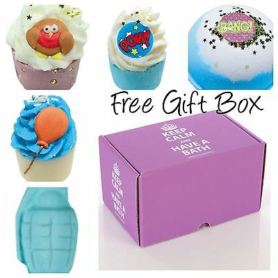 Bomb Cosmetics Bath Bombs For Big & Little Boys FREE GIFT BOX