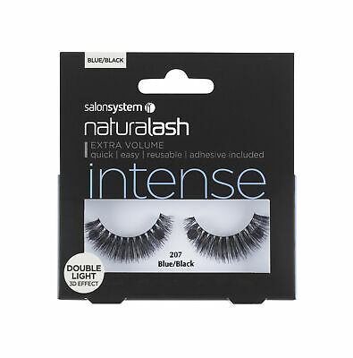 Salon System Naturalash 207 Blue/Black Double Lights Intense Adhesive Included
