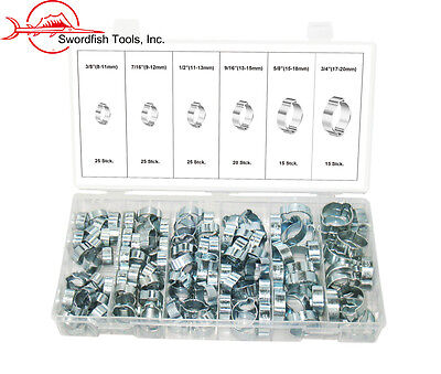 Swordfish 32310 - 125pc two-ear Clamp Assortment