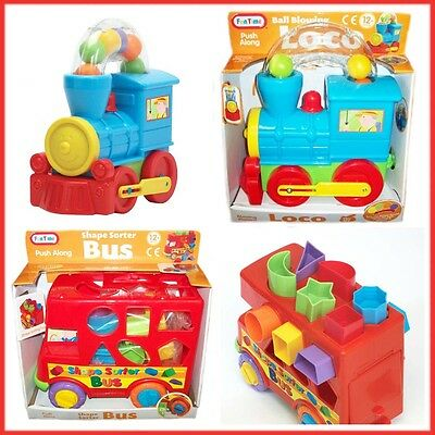 Baby Shape Sorter Bus Ball Blowing Loco Push Along Early Learning Kids Fun Play