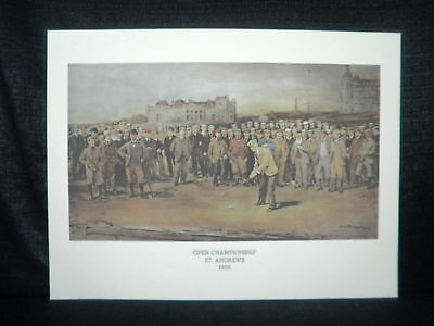 Michael Brown 1895 Open St Andrews Scotland Litho