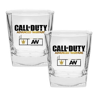 CALL of DUTY Spirit Glasses Set of 2 Advanced Warfare Man Cave Christmas Gift