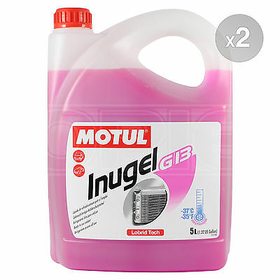Motul INUGEL G13 -37°C Ready to use VW cooling liquid 2 x 5 Litres 10L