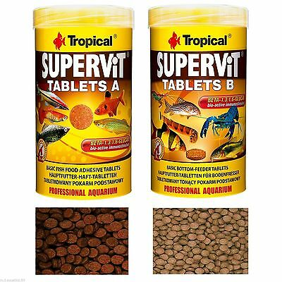 Professional Fish Food Supervit Tablets  For All Types Tropical Fish