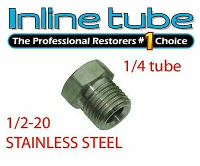 1//2-20 Inverted Flare STAINLESS STEEL Tube Nut Fitting 5//16 Trans Line EA STN15