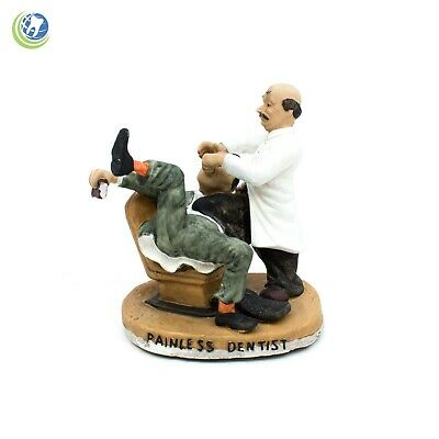 Classic Vintage Dentist Performing Painless Extraction Resin Dental Figurine 3D