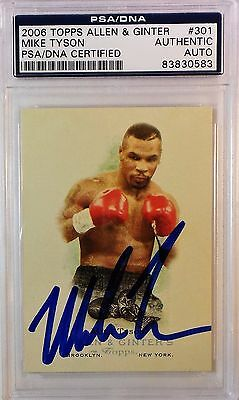Mike Tyson Signed 2006 Topps Allen & Ginter Card PSA/DNA 83830583