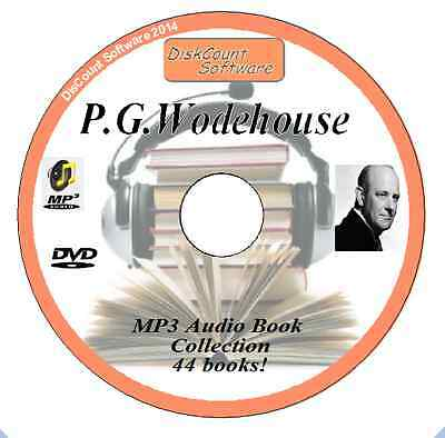P G Wodehouse  Audio Book Collection - 44 Books to listen to!! on MP3 DVD