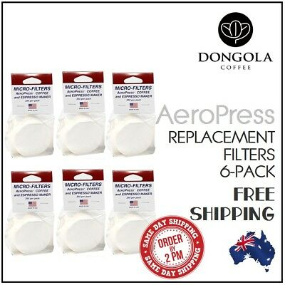 6PK AEROPRESS Replacement Micro Filters Coffee Espresso Maker Brewer Aerobie