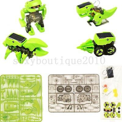 DIY Rechargeable Solar Power Robot Educational Plastic Building Kids Gifts Toy