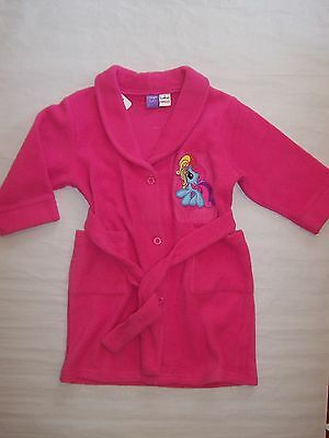 Bnwt Girls My Little Pony Hot Pink Dressing Gown Size 2 To 6
