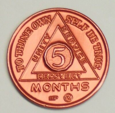 Alcoholics Anonymous  5 Month Anniversary  Medallion - Chip -Token