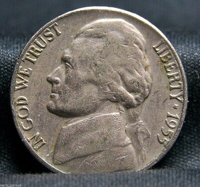 1955 P Jefferson Nickel, Circulated, Nice Coins, Mintage of 8.2 Mil, Free Ship